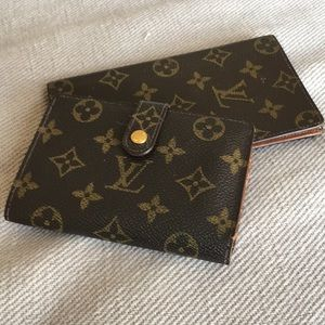Authentic Louis Vuitton wallet and checkbook